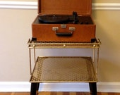 Vintage Record Player Stand Side Table