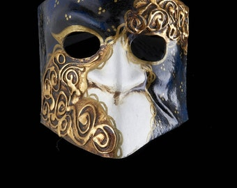 Venetian Mask | Bauta Blue Sea