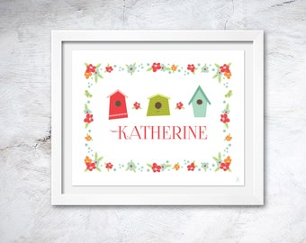 """Girl's Personalized Wall Art 