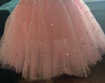 Pink with stars tutu for toddlers!!