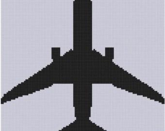 Airplane 2 Cross Stitch Pattern