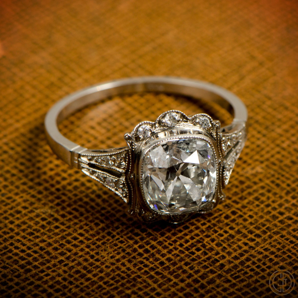 vintage engagement ring 1 91ct in by