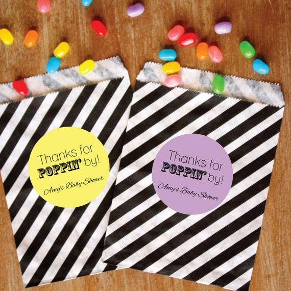 Black Treat Favor Boxes : Candy buffet favor bags personalized paper treat black