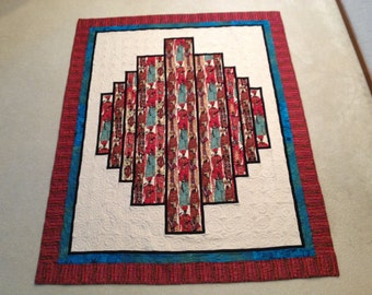To Market - Quilted Wall Hanging