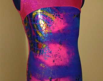 Child's sleeveless gymnastics leotard - age 6-7 years