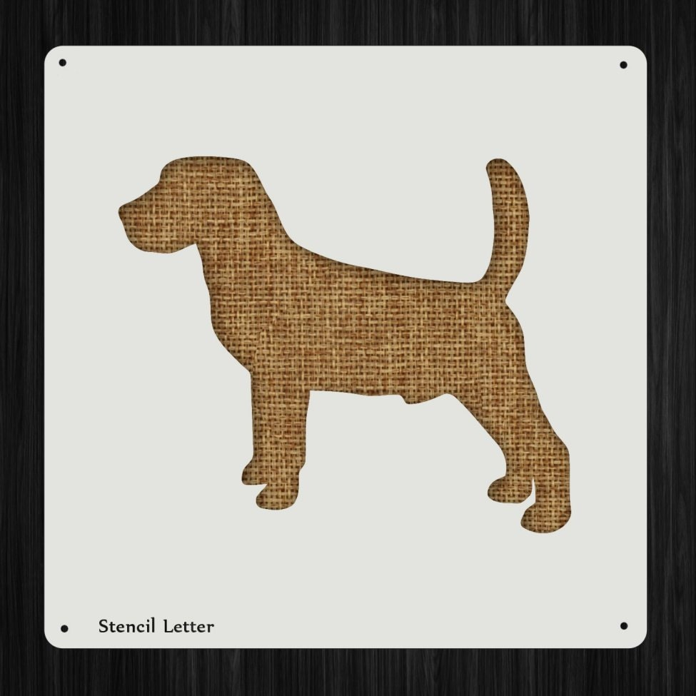 Beagle dog style diy plastic stencil acrylic mylar