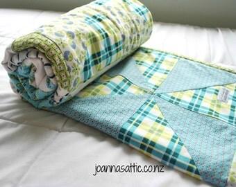 Pinwheel Quilt; Heirloom Blanket; Heirloom Blanket; Handmade Baby Quilt; Minky Blanket; Modern Baby Quilt; Classic Quilt