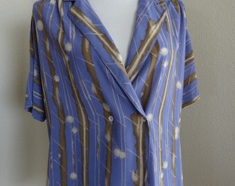Vintage Blouse Made In The 1970's In USA By 'Campus Casuals' - Chest Size 42""