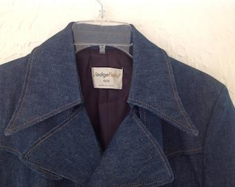Sedgefield 70's Dark Denim Overcoat  40R Made in the USA