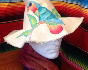 Hand painted floppy hat from Hawaii