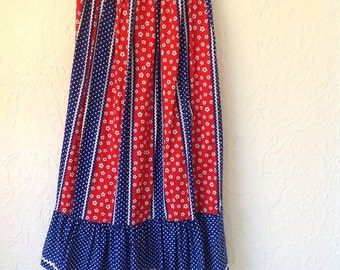 Vintage flower and poka dot skirt size 5 on tag