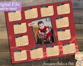 Digital Personalized Christmas calendar - 8x10 - Christmas calendar - Digital printable