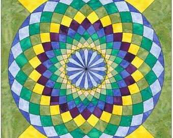 Giant Dahlia Paper Piece Templates Quilting Block Pattern