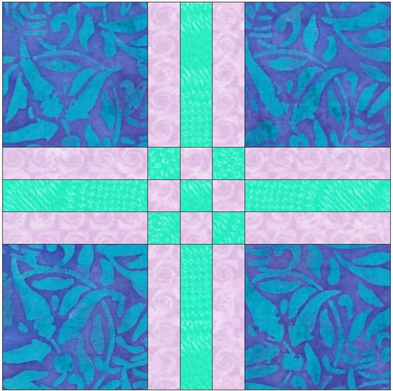 Quilting Template Paper : Cross 4 Paper Piece Templates Quilting Block Pattern