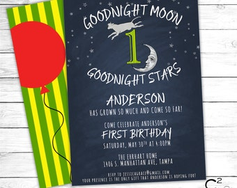 Goodnight Moon Birthday Invitation