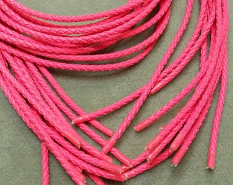 Bolo Tie Cord, Bright Hot Pink, 36 inches long BBTC5