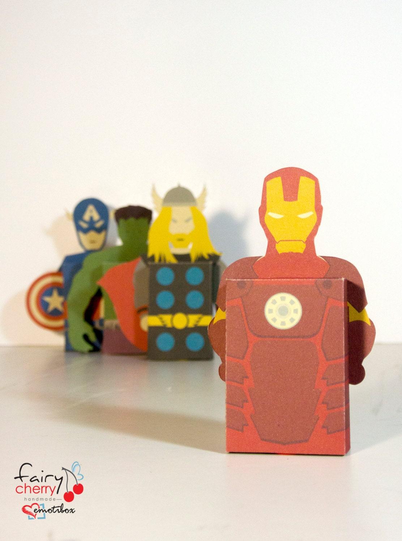 Avengers fridge magnet emotibox Funny geek greeting card – Iron Man Birthday Card