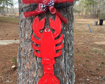 Crawfish door hanger,summer door hanger,Personalized decor hanger,Custom door hanger,summer door sign, party door decor,