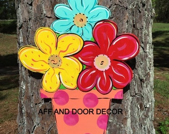 Summer door hanger,Flower door hanger,Personalized decor hanger,Custom door hanger,summer door sign, party door decor,
