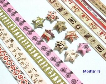 250 strips of DIY Origami Lucky Stars Paper Folding Kit. 26cm x 1.2cm. #C127. (XT Paper Series).