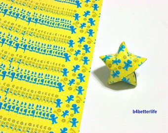 """120 Strips Yellow Colors DIY Origami Paper Folding Kit For Folding The Big Lucky Stars. 34cm x 1.8cm. (KZ paper series). """"Welcome"""" #SPK-160."""