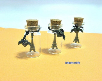Great Gift! 3pcs Eiffel Tower In A Bottle. Ideal Party Favors. #G5.