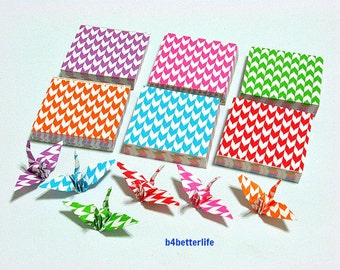 "350 Sheets 3.2cm x 3.2cm Assorted Colors DIY Chiyogami Yuzen Paper Folding Kit for Origami Cranes ""Tsuru"". #MD108.(MD paper series)."