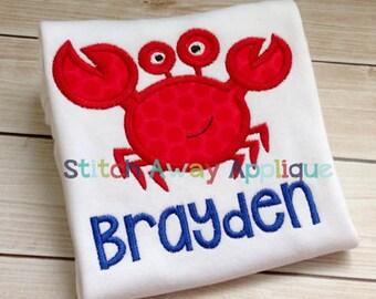 Summer Crab Machine Applique Design