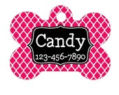 Pet Name Tag - Personalized Pet Name Tag - Custom Pink Pet Name Tag - Create Your Own pet name tag