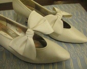 Silk Bowed Heels