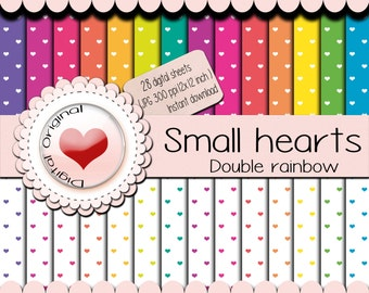Sale-Digital paper - 28 Hearts pattern. 12x12 inches / 3600x3600 pixels / 30.48cm x 30.48cm  (300 ppi) -JPG format Freebies Minimum price