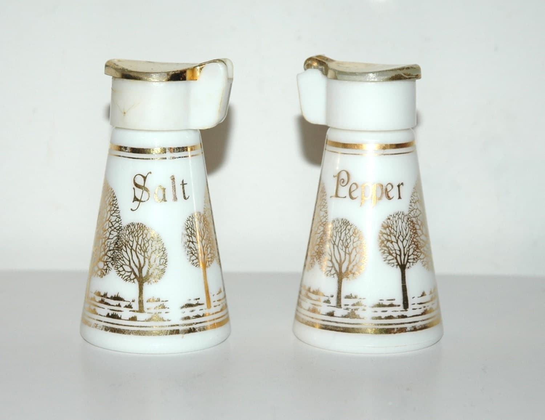 Vintage Tree Design Salt And Pepper Shakers Vintage Antique
