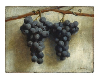 Grapes, American Oil Painting Print