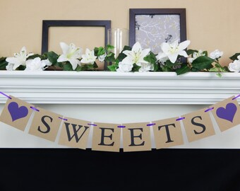 Sweets banner, dessert table banner, dessert bar, sweets table, dessert table decor, wedding decorations, baby shower decor, baby shower