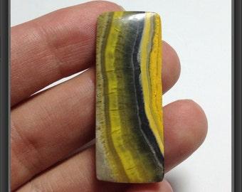 Yellow Jasper Cabochon 40x15x3mm