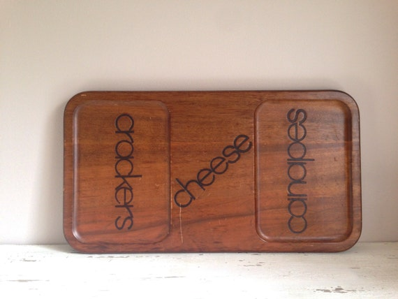 Mid Century Teak Cheese and Canapés Board