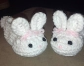 Crochet Baby Bunny Slippers