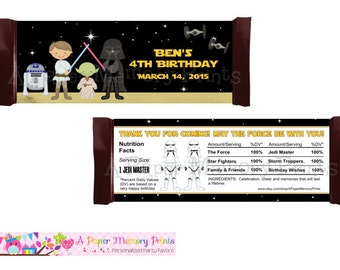Star Wars Candy Wrapper - DIY Printable