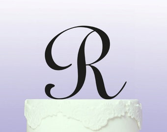 Beautiful Personalised Initial/Monogram Cake Topper