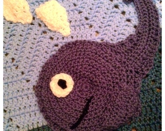 Crochet Ocean Whale Baby Blanket