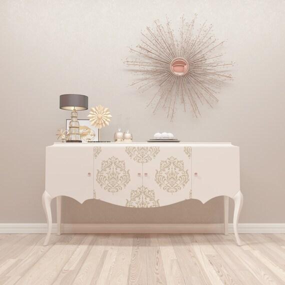 Pochoir pour meubles damask pattern pochoir par stencilslabny - Pochoirs pour meubles ...