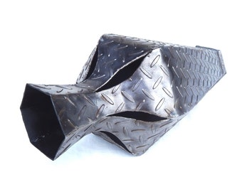 Large Hexagonal Steel Vase for your Home or Garden.