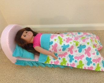 "18"" Doll Bed and Bedding"