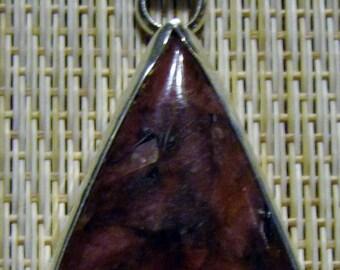 Gem Grade Rhodonite Pendant