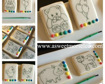 Coloring Book/Paint Cookies