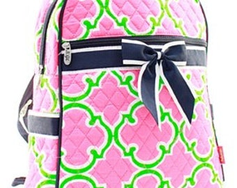 Quilted Geometric Backpack