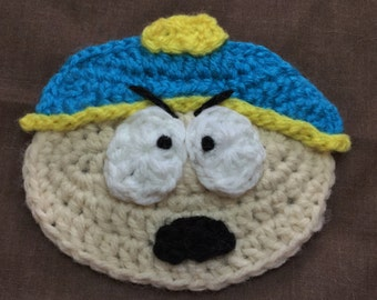 Crochet Pattern for Applique inspired by Eric Cartman from South Park