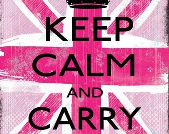 "Keep calm and carry on decal/ Keep Calm sticker 14""x18"""