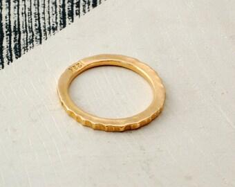 22k GOLD RING - Wedding Band - High Karat Gold Ring - Forged Gold Ring - Wedding Rings - Gold Ring Wedding Sets