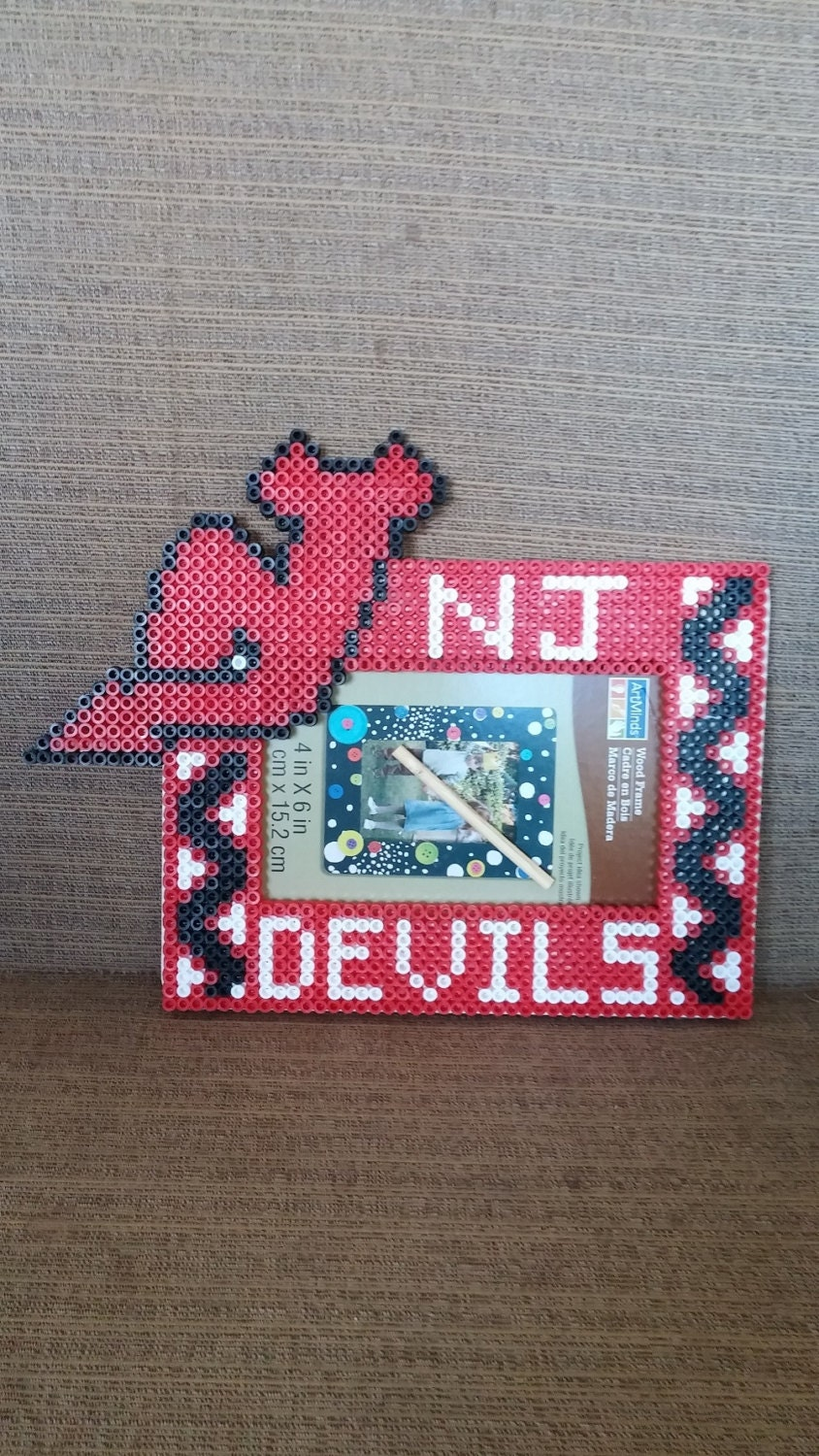 New Jersey Devils Picture Frame From Meltycreations On